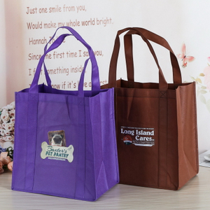 Hot Sale Custom Logo Portable Non-Woven Shopping Bag With Pink Green Black And More