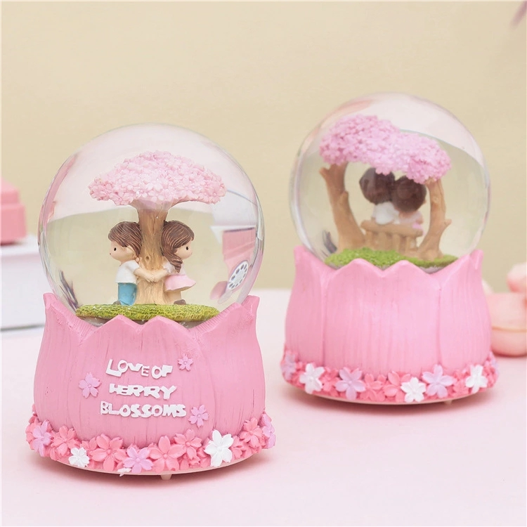 OEM Home Decor Cute Kids Gift Souvenir Cartoon Human Polyresin Water Globe Plane Snow Globe
