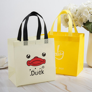 Promotional Cheap Customized Foldable Eco Non-woven Tote Shopping Bag