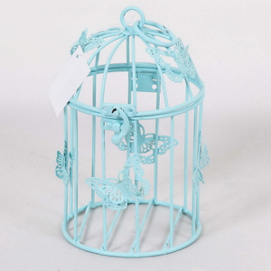Hot Selling Cheap Vintage Decorative Metal Hexagon Bird Cages Carriers Houses