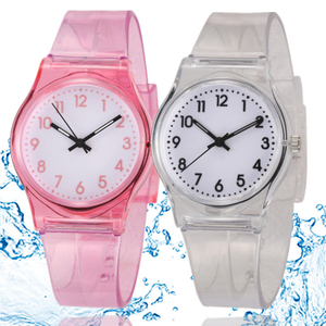 30M Waterproof Children Watch Casual Transparent Watch