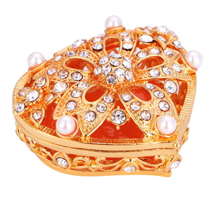 Zinc Alloy Materials ROUND Shape Jewelry Packaging Box-wedding Gift Box