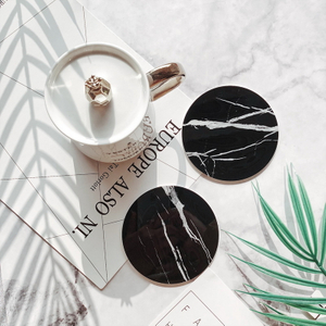 Water Absorbent Round Shape Set of 8 Ceramic Coaster with Cork
