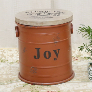 Printing Small Round Empty Metal Lid Candy Candle Beer Popcorn Can Buckets Paint Tin Bucket