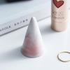 Concrete Covered with Bronze Paint Pyramid Jewelry Ring Display Holder