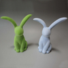 Flocked Rabbits Green Artifical Grass Bunnies Wedding Garden Decorations Easter Rabbit