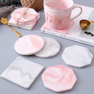 Round Art Ceramic Coaster for Home Accessories