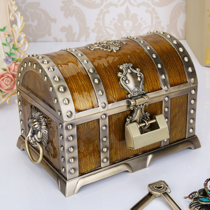Pretty Rose Metal Zinc Alloy Jewelry Trinket Box