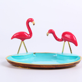 ZINC ALLOY DECORATIVE RING DISH