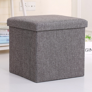 Amazon Hot Sale Good Quality Fabric Foldable Seat Box Folding Storage Stool Ottoman