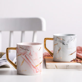 Creative Ceramic Mug Coffee Mug Milk Mug Breakfast Mug Marble Gold Mug