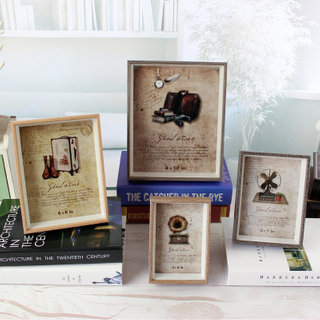 Baby Product Hand Made Wooden Hand&foot Print Photo Frames