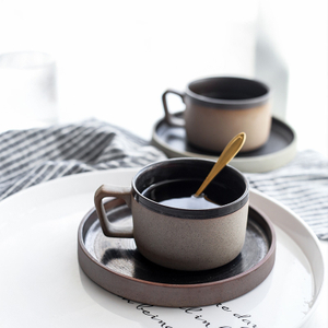 Retro Japanese Rough Pottery Coffee Cup Daily-use Ceramics