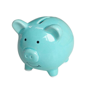 Factory Direct Ceramic Pig Piggy Money Box for Kids' Gift