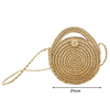 Handmade Round Straw Weave Bag For Lady Shoulder Beach Bag Handbag
