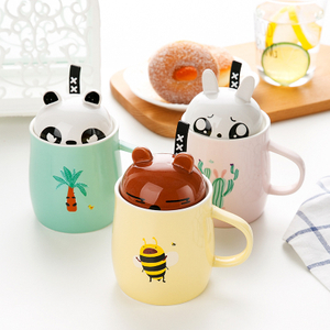hot sale ceramic mug high quality coffee mug ceramic with flamingo lid
