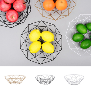 Fruit Basket Container Bowl Metal Wire Basket Kitchen Drain Rack Fruit Vegetable Storage Holder