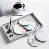 Marble Ceramic Coaster Holder Placemat Mats Pads