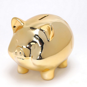 Chinese stylish white ceramic animal piggy coin bank
