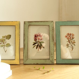 Wholesale Shabby Chic Cheap Customized Rustic Wall Picture Sets Antique Handmade Mini Black Funia Wooden Photo Frame