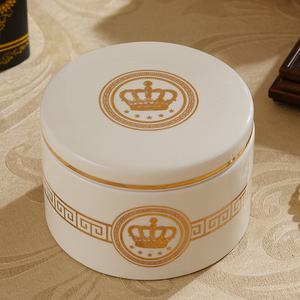 Fashion Unique Ceramic Jewelry Box with Golden Decal Jewelry Stands And Organizers