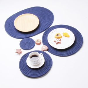 Round Weave Placemat Fashion PP Dining Table Mat Disc Pads Bowl Pad