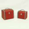 Vintage Wooden Decorative Storage Suitcase