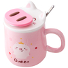 Novelty Christmas Gifts Mug,Ceramic Mug for Christmas Day,500ml Ceramic Cup with Lid