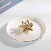 Factory Supply Tulip Ceramic Jewelry Tray Flower Ring Holder for Wholesale