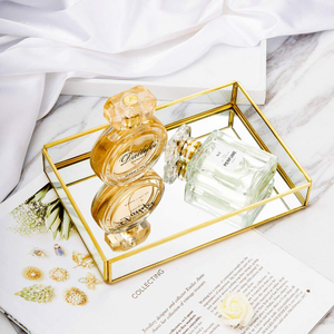 Christmas Gift Luxury Design European Style Galvanized Metal Mirrored Trays
