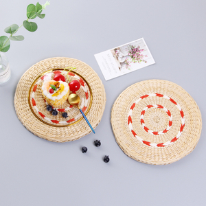 Hot Sale Kitchen Accessories Pp Weave Placemat Fashion Non-slip Dining Table Mat