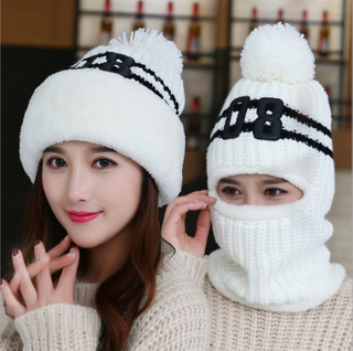 Designer Your Own Leather Patch Custom Men Women Cotton Wool Winter Knit Beanie Hat