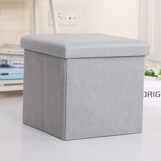 Folding kids toys storage MDF stool box chair with customized printing