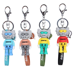 Wholesale Promotional Custom Made Keychain Soft 3D Rubber PVC Key Chain